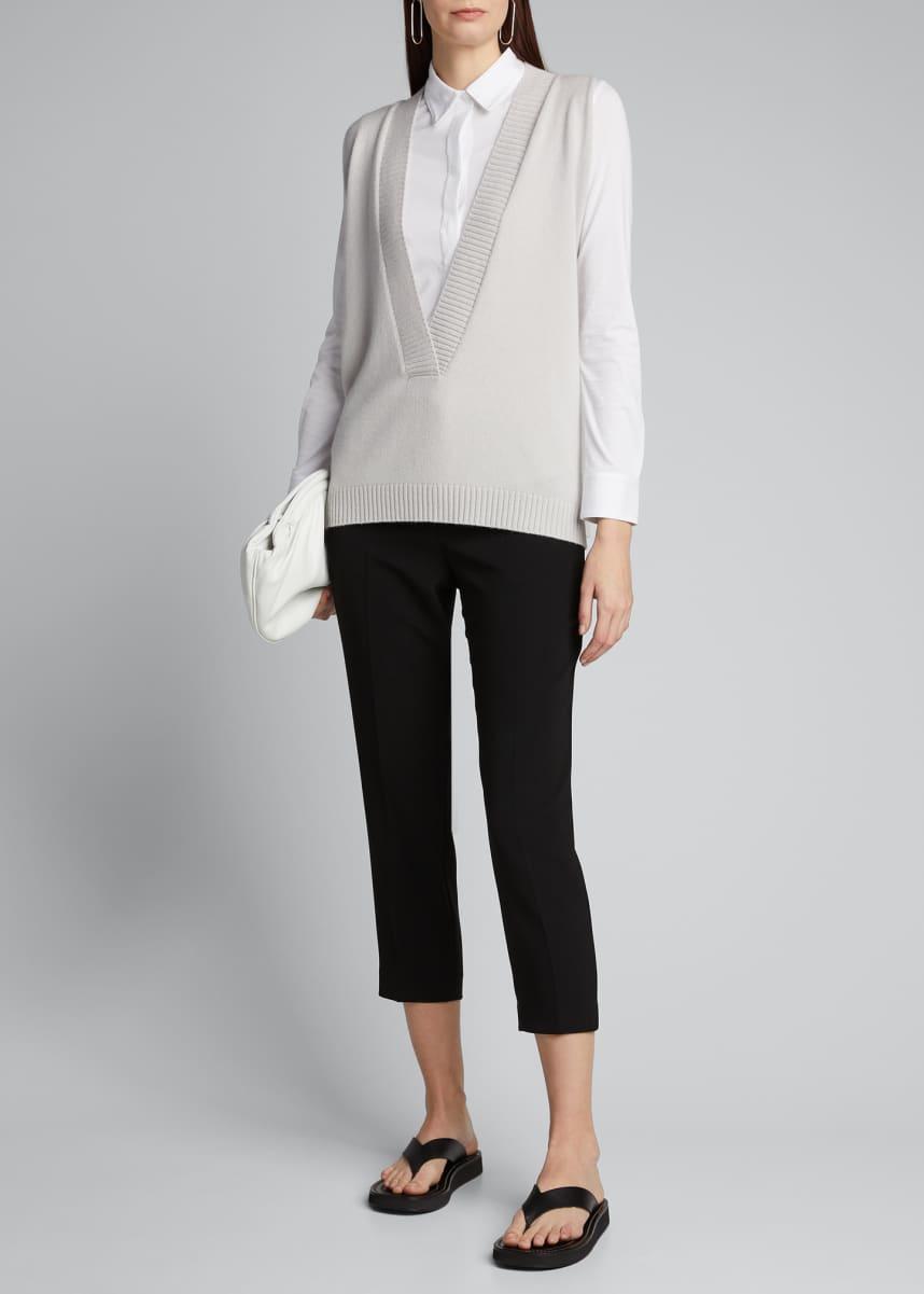 Eskandar Cashmere V-Neck Sleeveless Sweater Vest