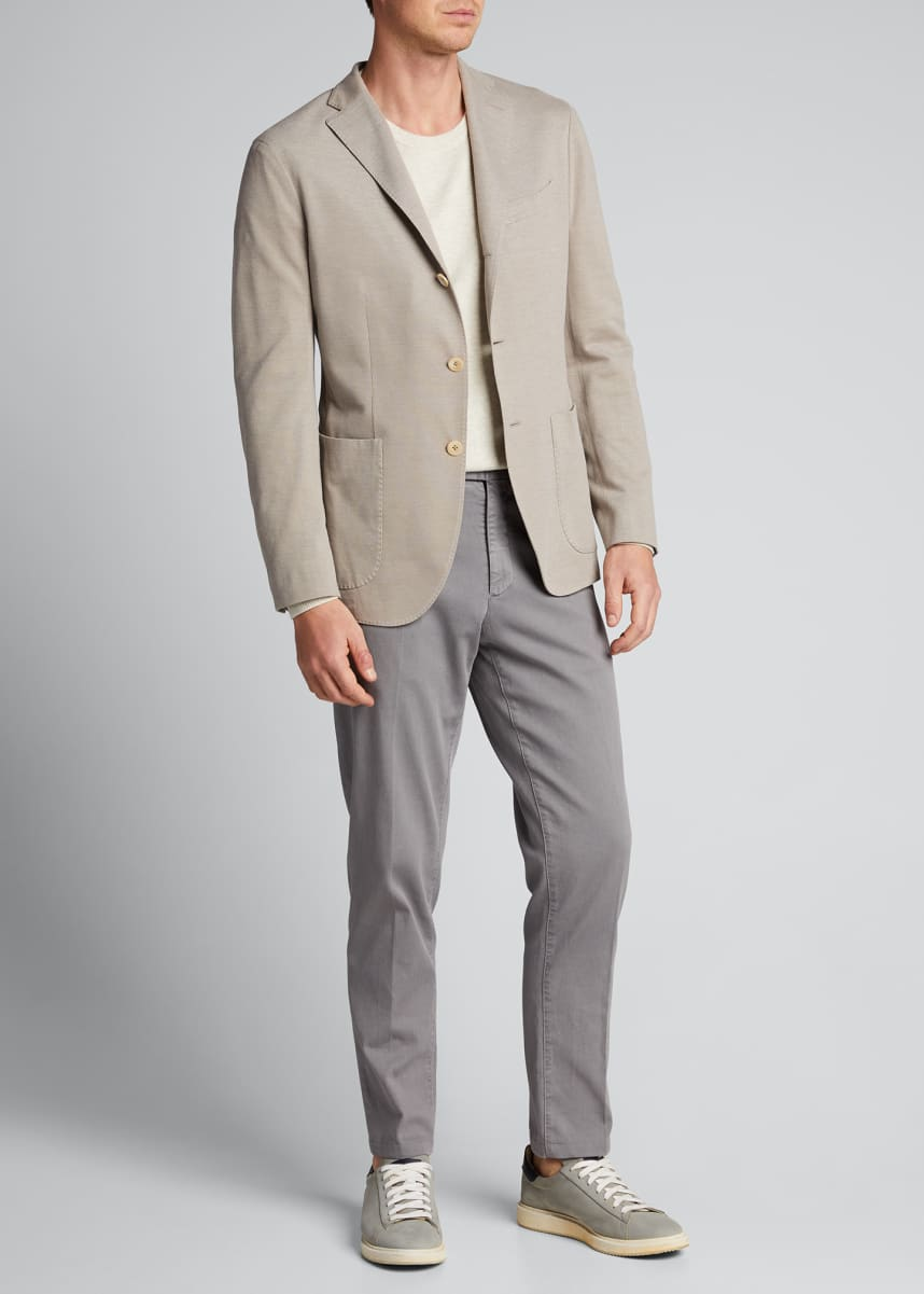 Boglioli Men's Solid Pique Knit Blazer