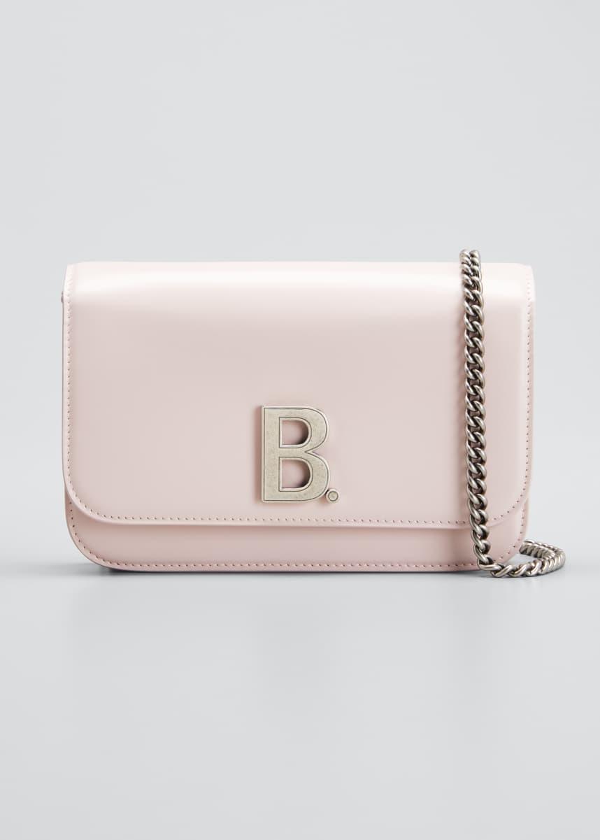 Balenciaga B Shiny Box Wallet On Chain Bag