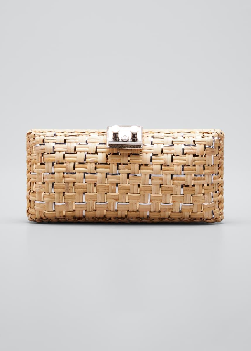 RODO Woven Wicker Clutch Bag