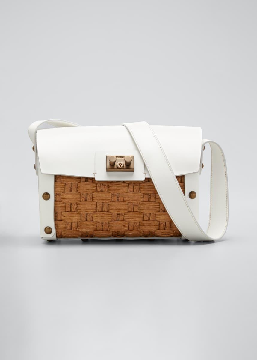 RODO Raffia Woven Shoulder Bag
