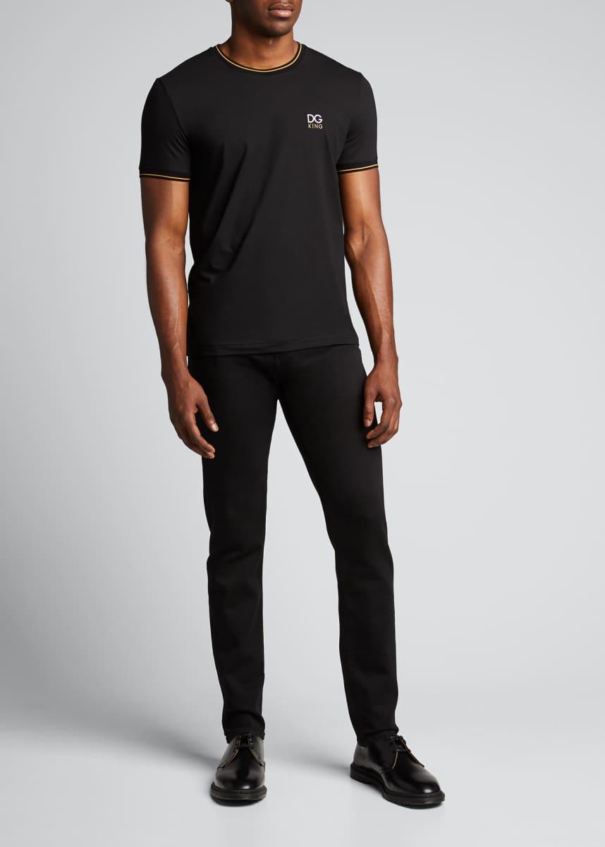 Dolce & Gabbana Men's Tipped Jersey Logo T-Shirt