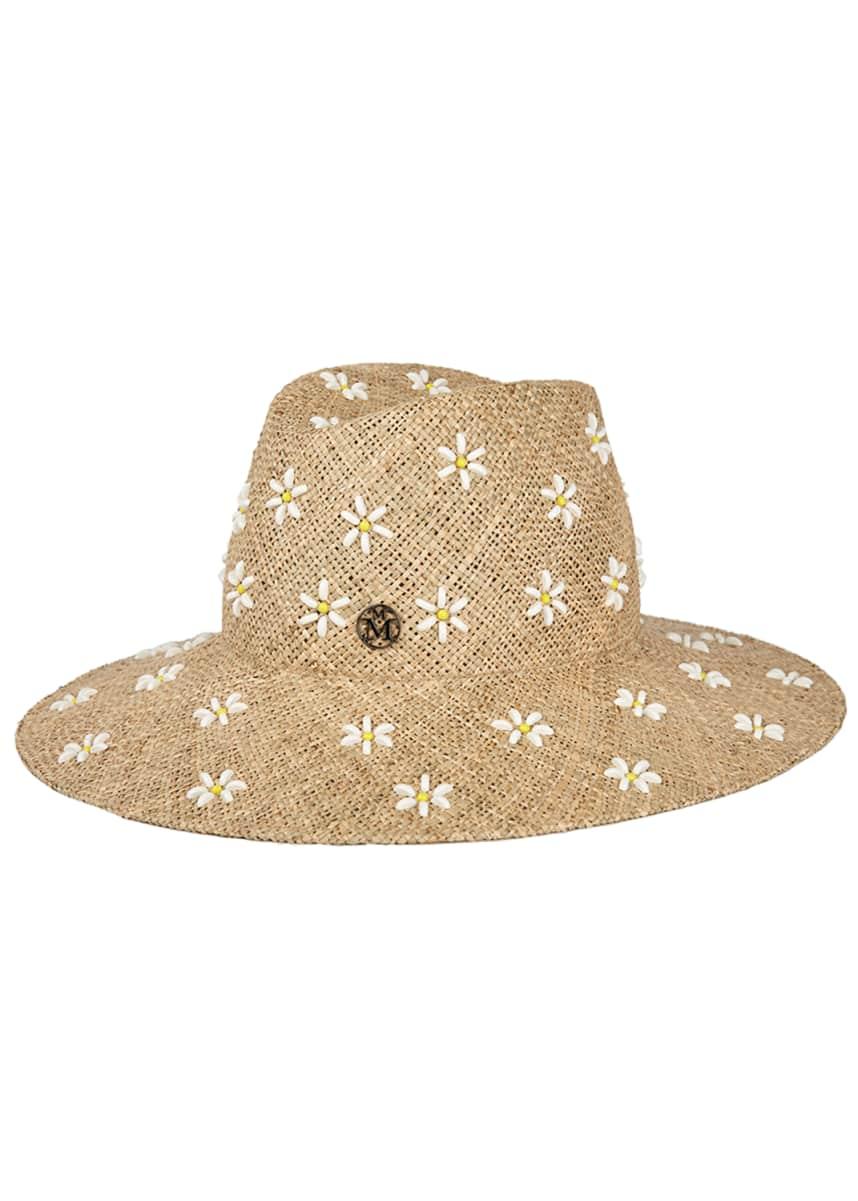 Maison Michel Kate Daisy Straw Fedora Hat