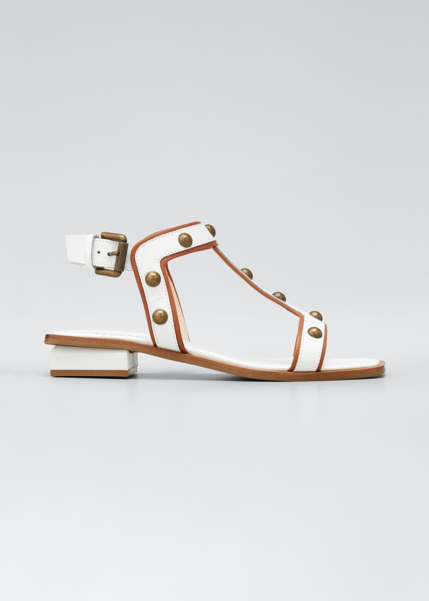 RODO 20mm Lower Sandals With Brass Studs