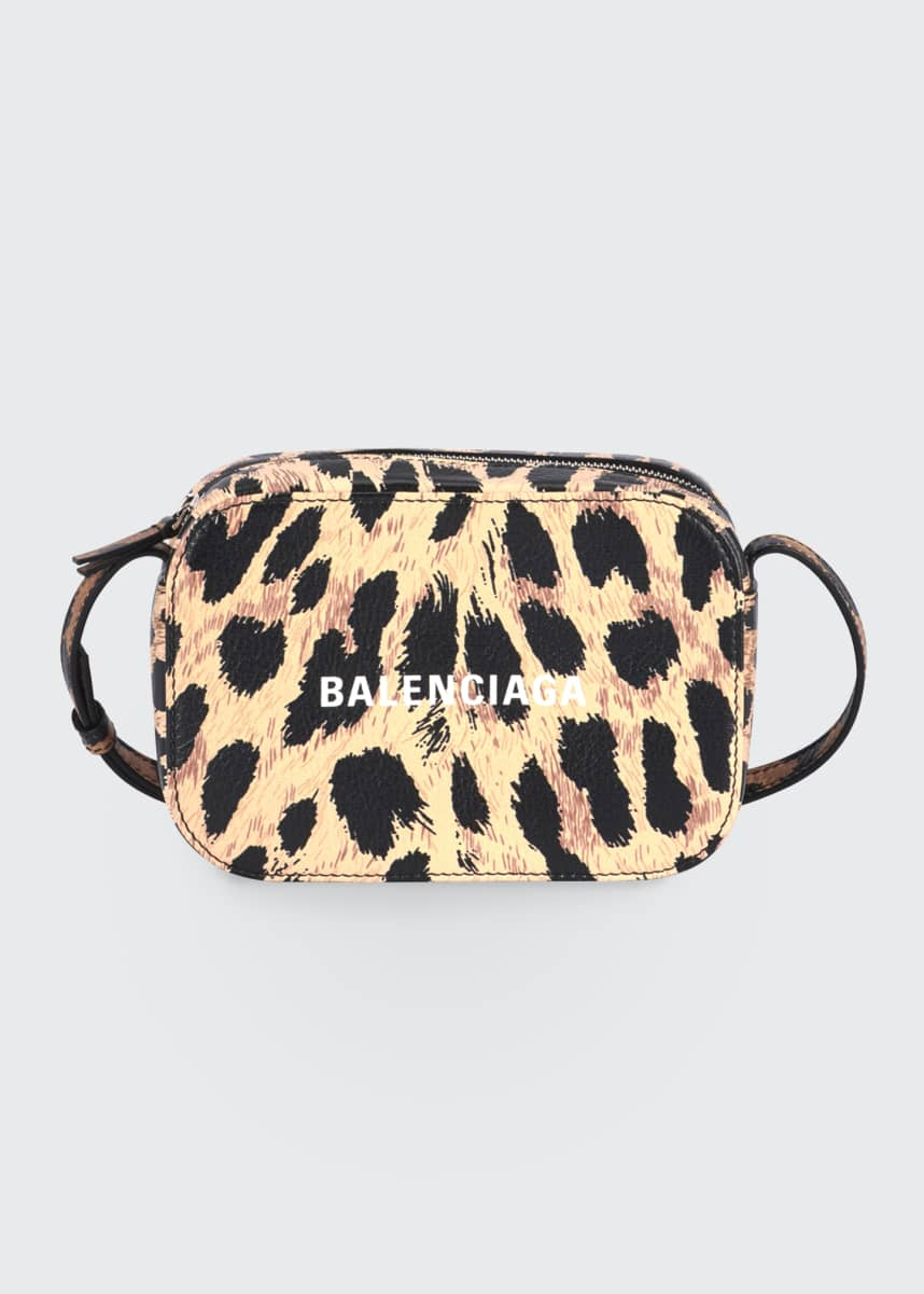 Balenciaga Everyday AJ XS Leopard Camera Bag