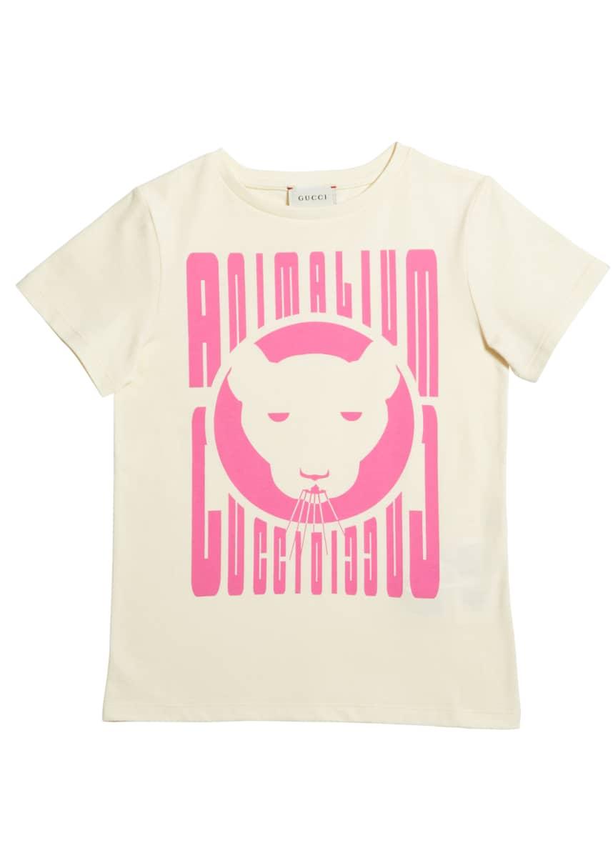 Gucci Girl's Animalium Short-Sleeve T-Shirt, Size 4-12