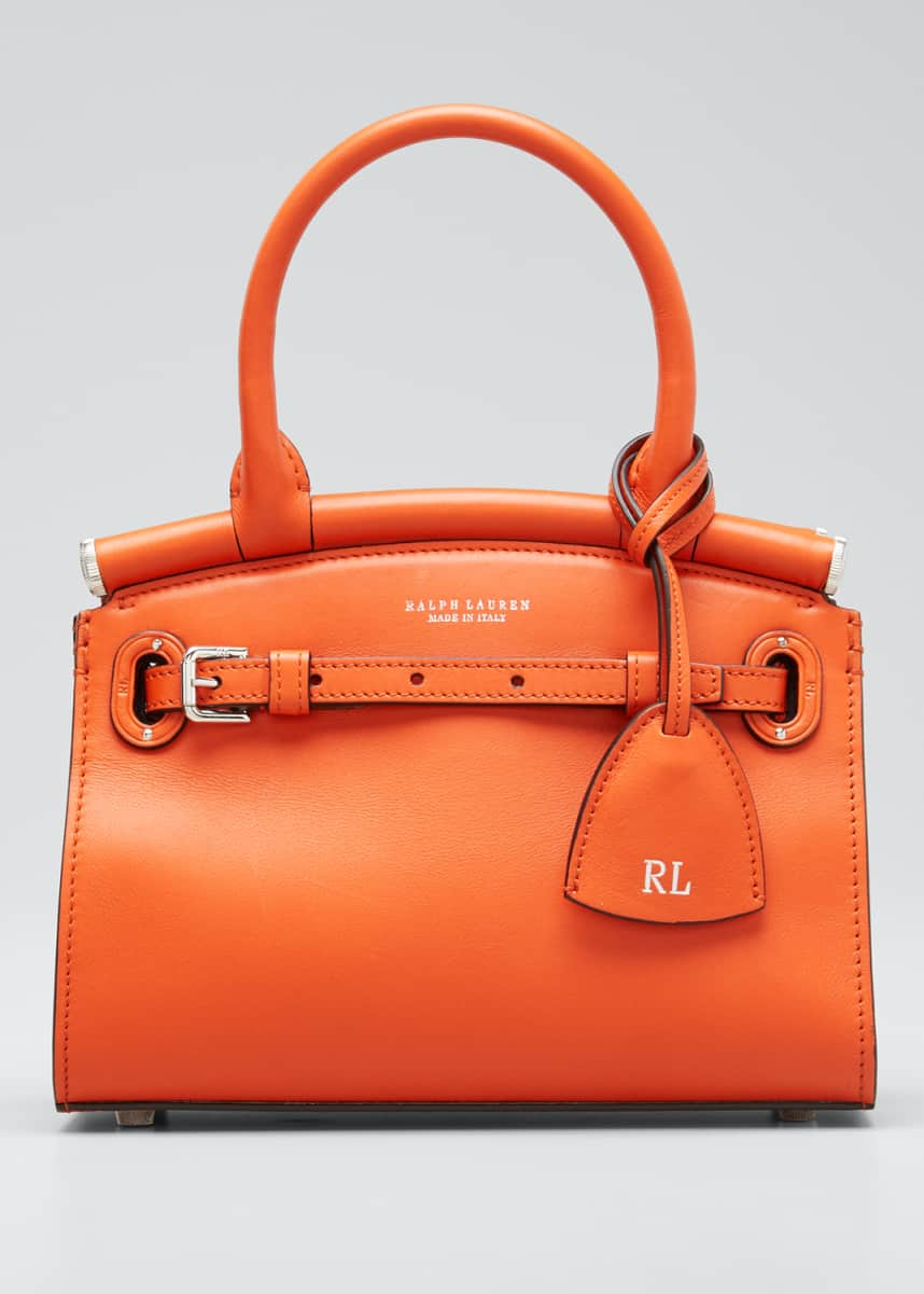 Ralph Lauren Smooth Mini RL 50 Satchel Bag, Orange