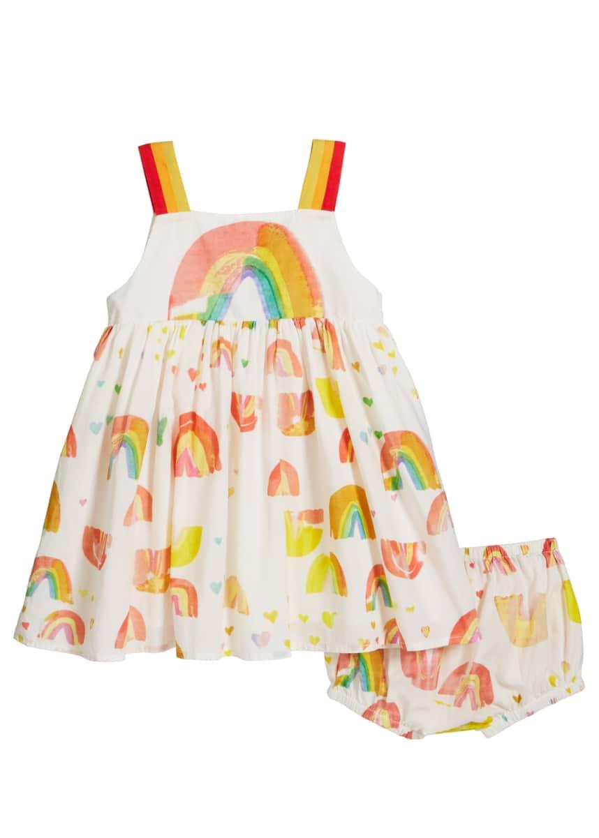 Stella McCartney Kids Girl's Sleeveless Painted Rainbow Dress w/ Bloomers, Size 12-36 Months