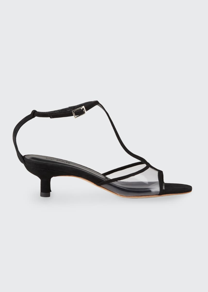BY FAR Baby 45mm Kitten-Heel T-Strap Sandals