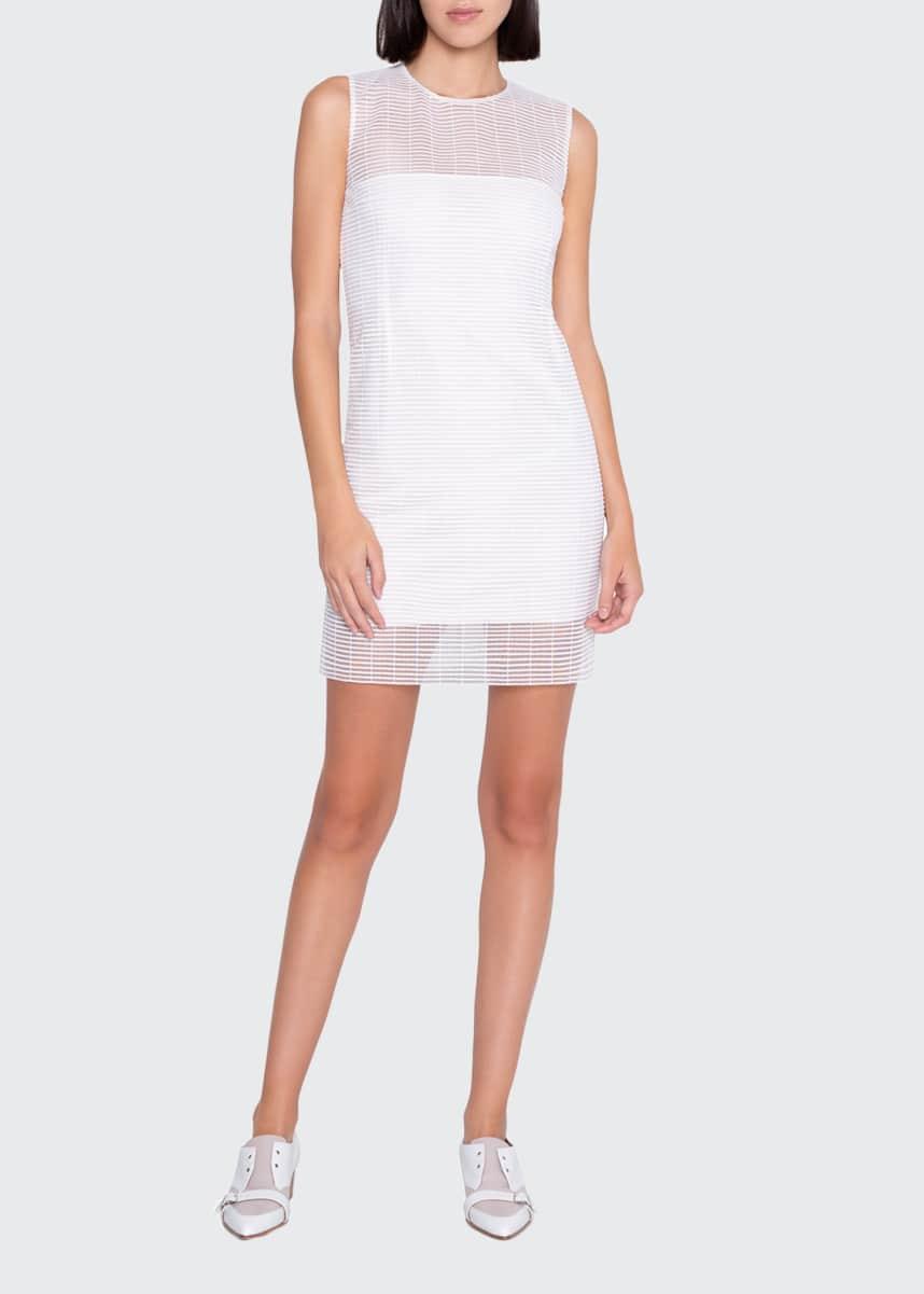 Akris Sleeveless Round-Neck Skimmer Sheath Dress