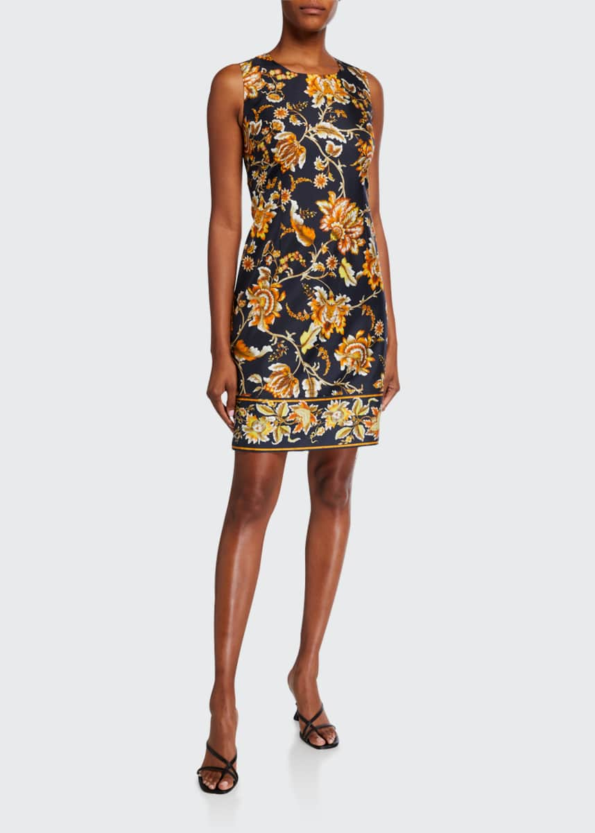Kobi Halperin Tina Floral Sleeveless Silk Dress