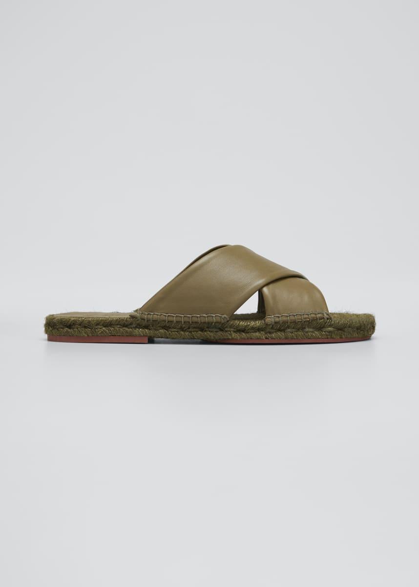 Loro Piana Crisscross Flat Espadrille Sandals
