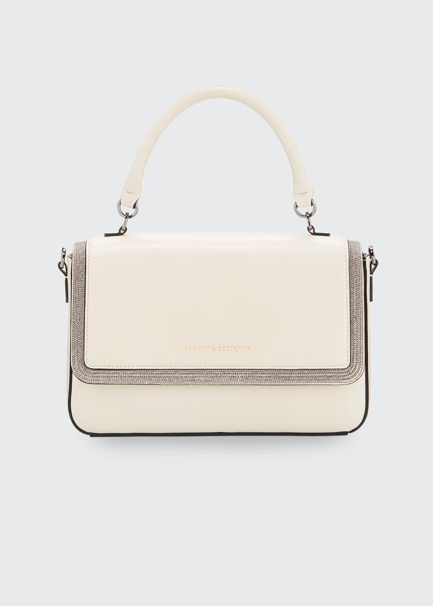 Brunello Cucinelli Leather Monili Top-Handle Bag