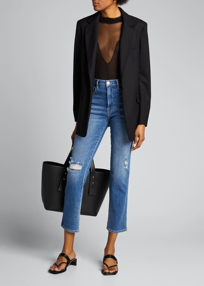 FRAME Le Sylvie Slender Straight-Leg Denim Jeans