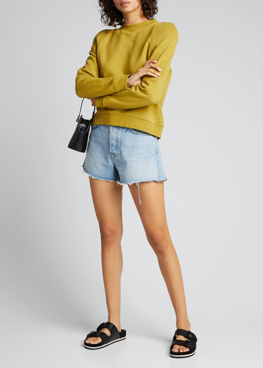 GRLFRND Helena Frayed Denim Shorts
