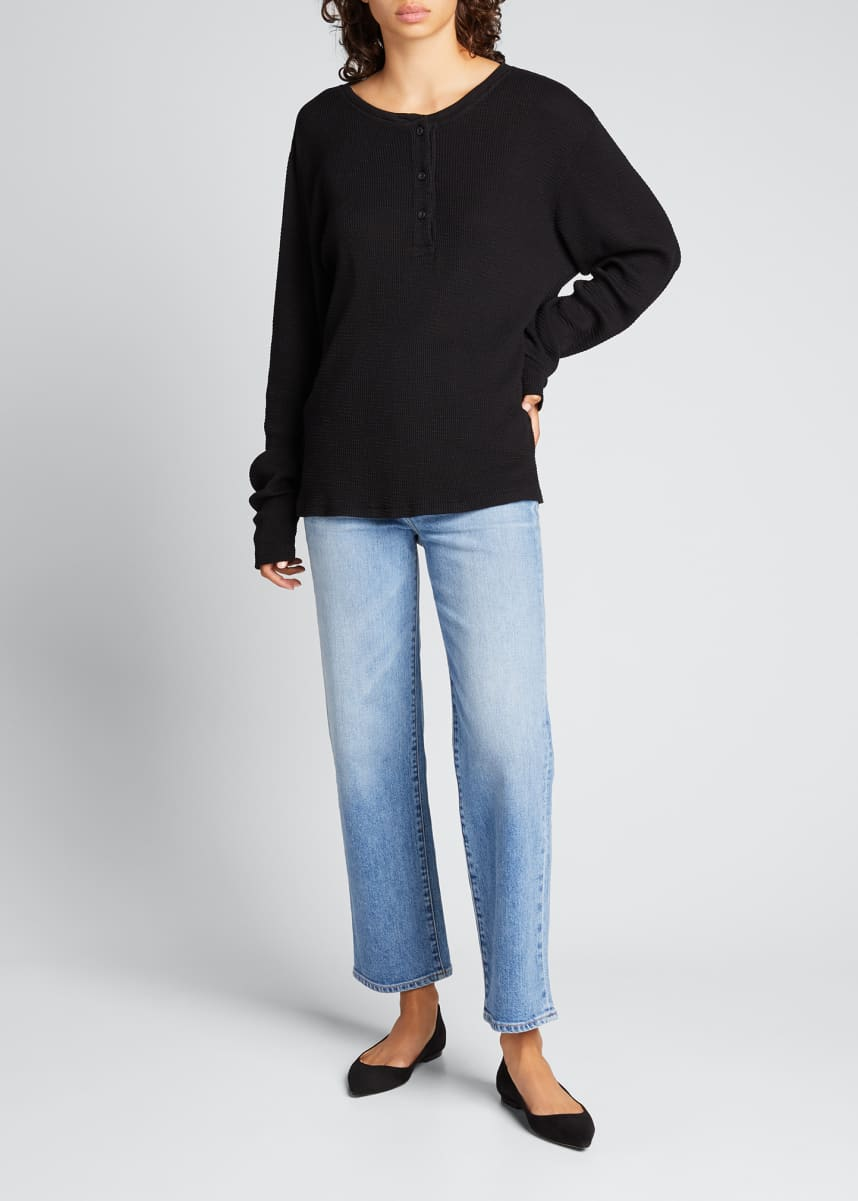 RE/DONE Long-Sleeve Henley Top