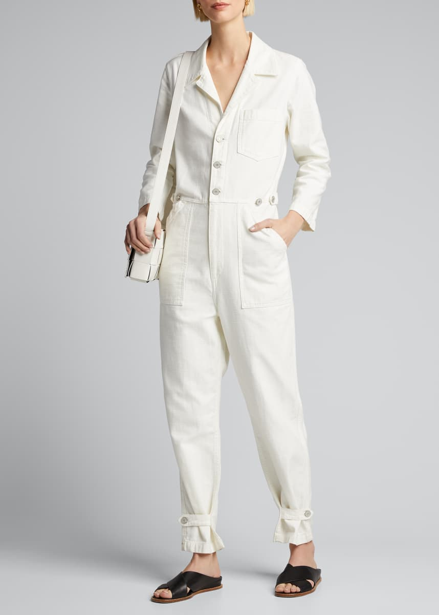 TRAVE Giselle Button-Front Boilersuit