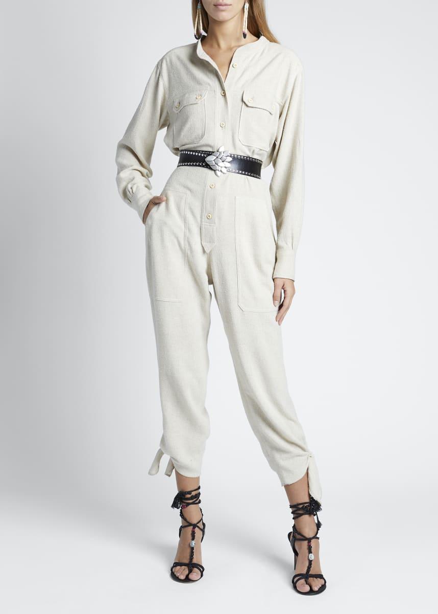 Isabel Marant Silk High-Neck Jumpsuit