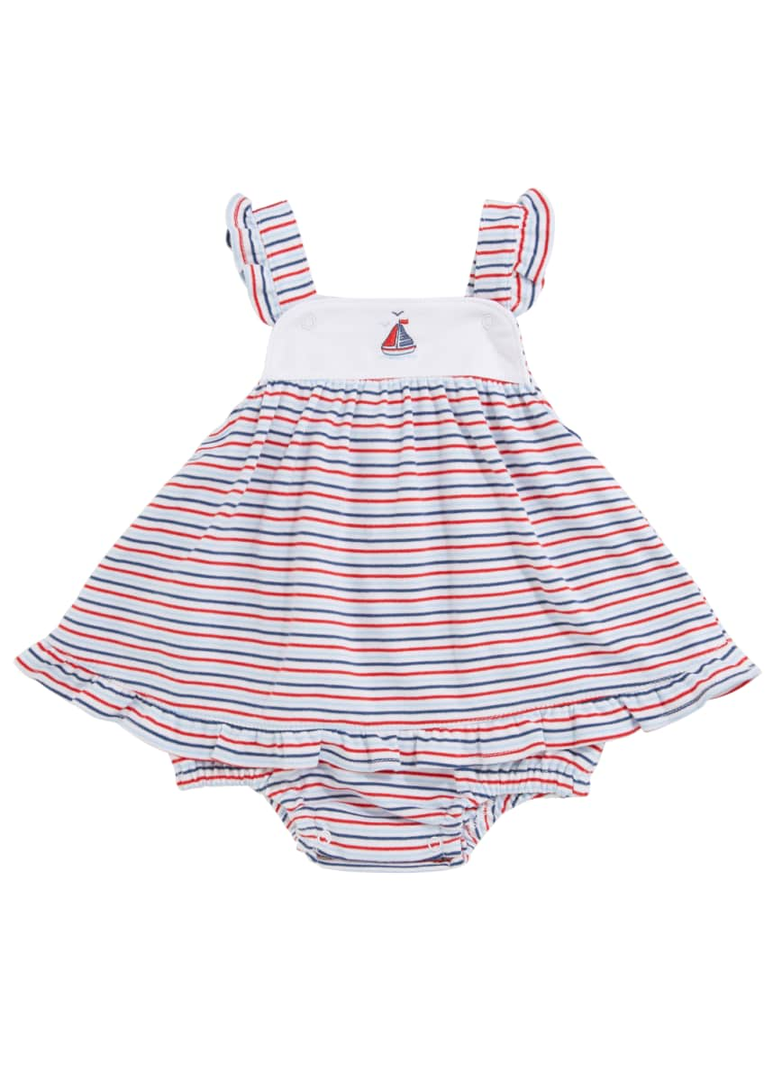 Kissy Kissy Seaside Surprise Stripe Bubble Romper, Size 3-18 Months