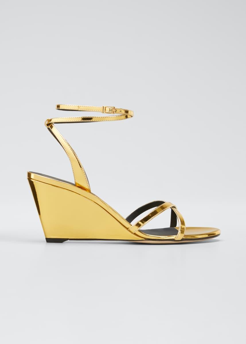 Giuseppe Zanotti 70mm Metallic Wedge Sandals