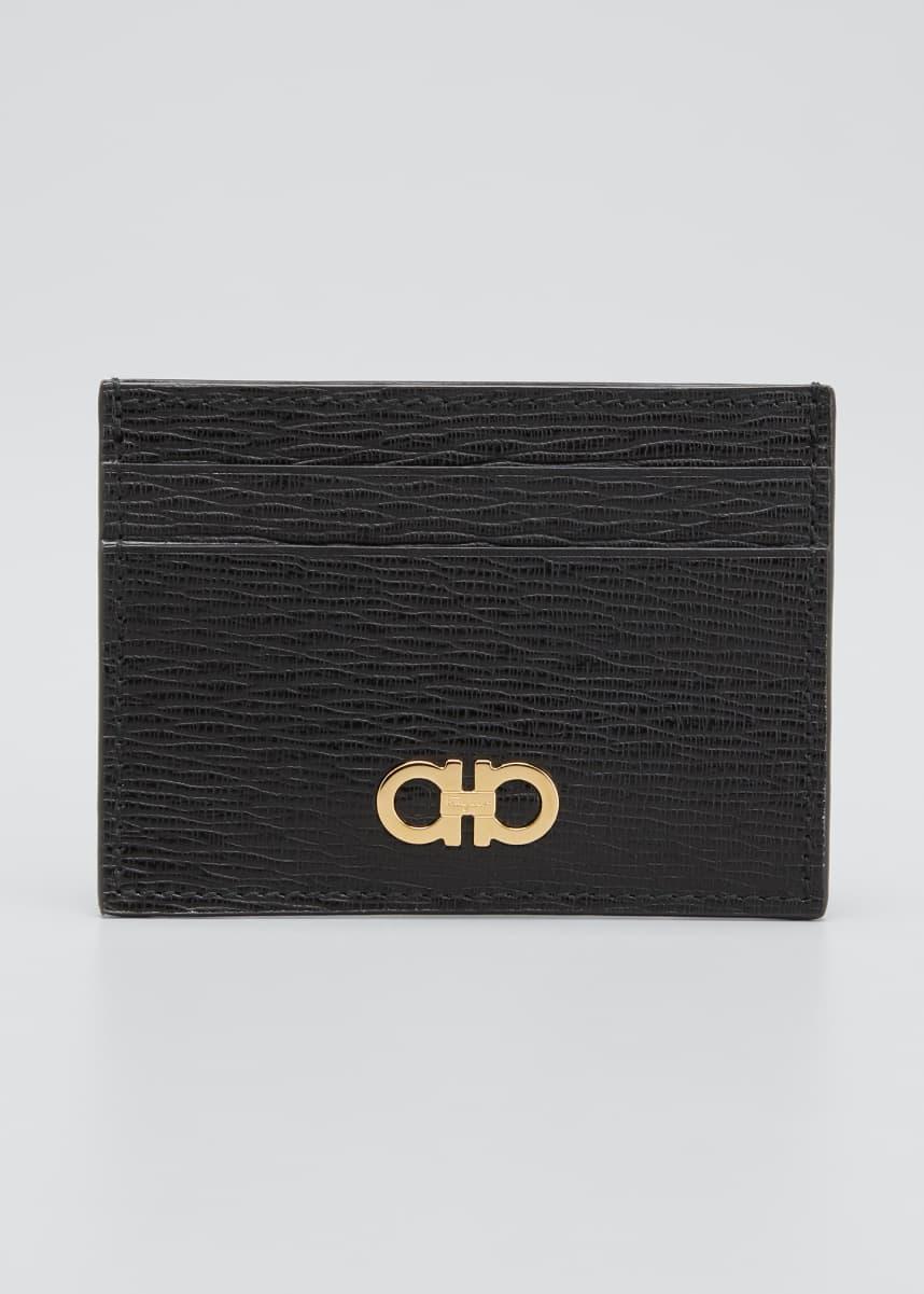 Salvatore Ferragamo Men's Leather Card Holder w/ Money Clip