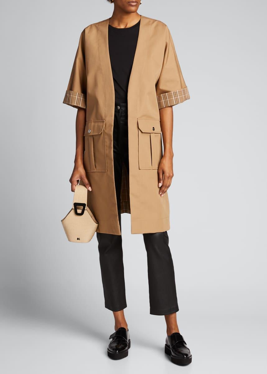Ganni Double Cotton Wrap Coat