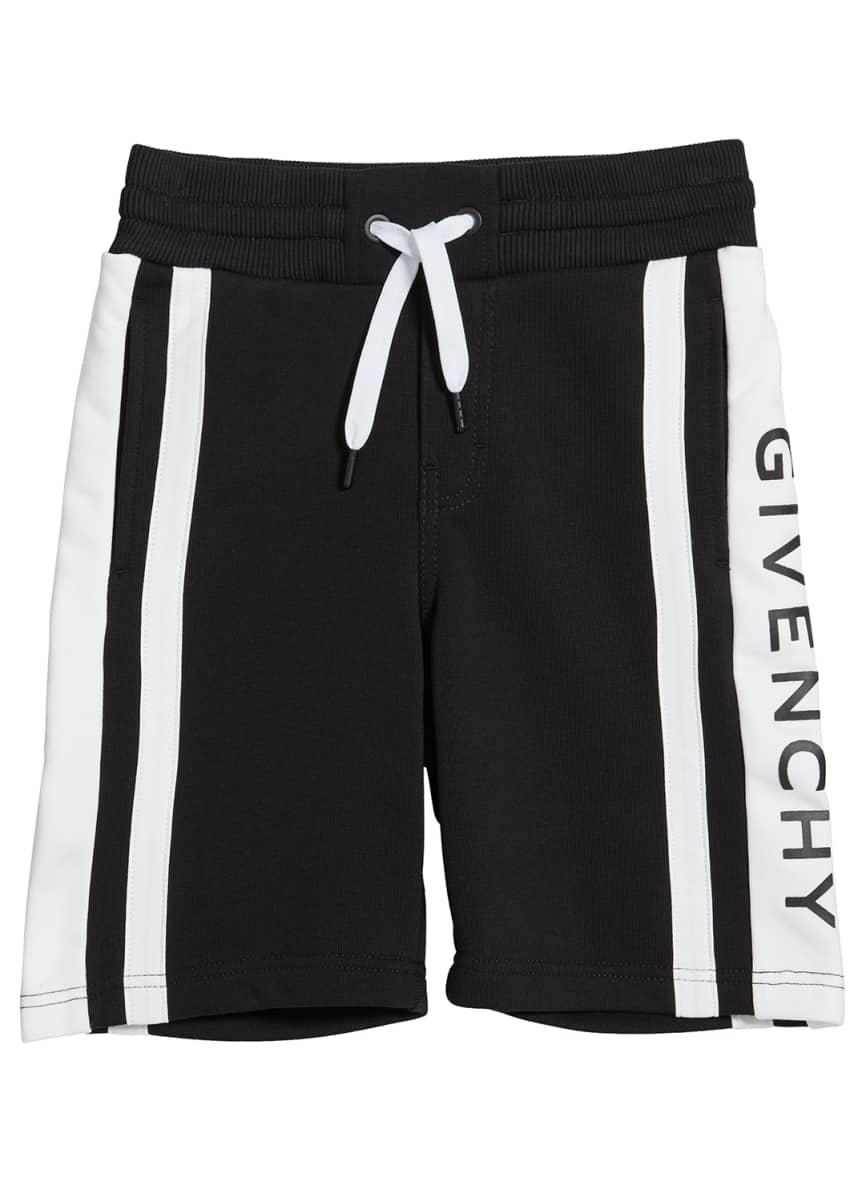 Givenchy Boy's Colorblock Logo Shorts, Size 12-14
