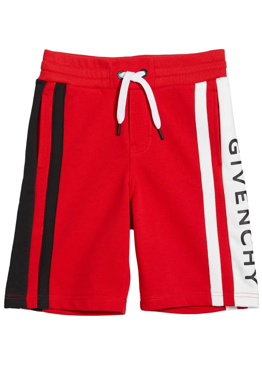 Givenchy Boy's Colorblock Logo Shorts, Size 4