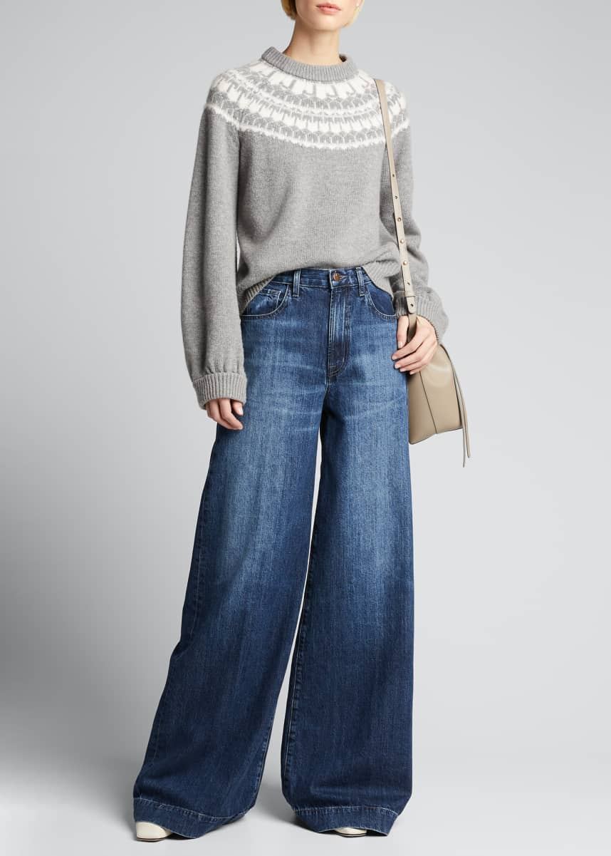 J Brand Thelma High-Rise Super Wide-Leg Jeans