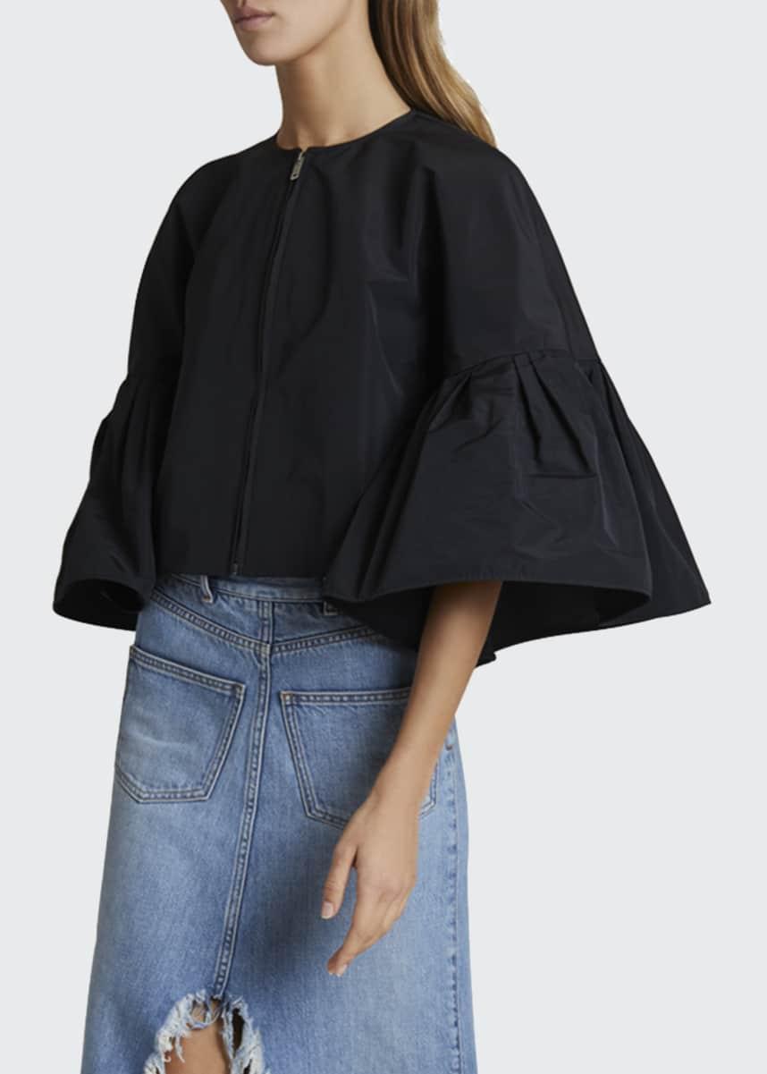 Givenchy Taffeta Blouson Sleeve Jacket