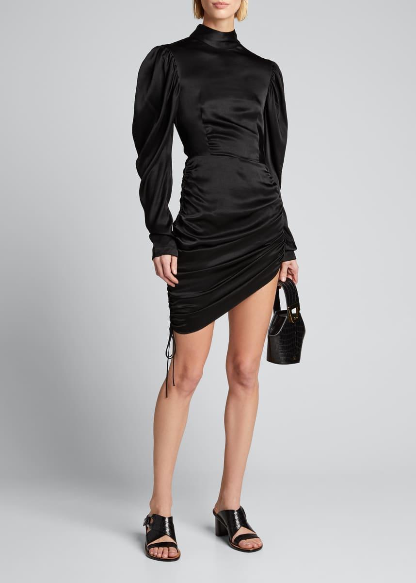 Materiel Satin Draped Mini Dress