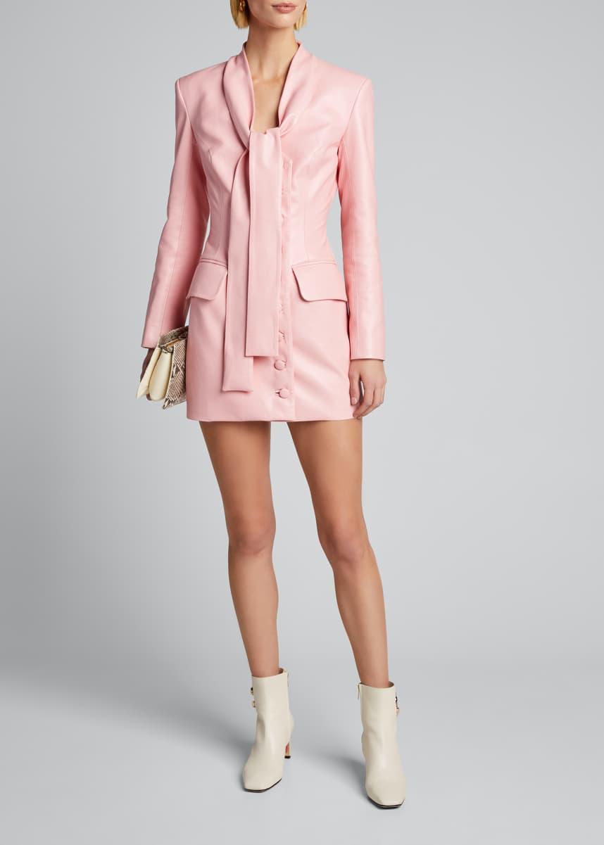 Materiel Faux-Leather Mini Dress