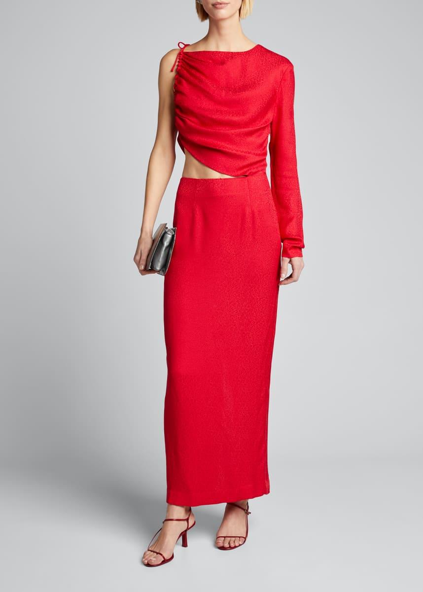 Materiel Leo One-Shoulder Cutout Dress