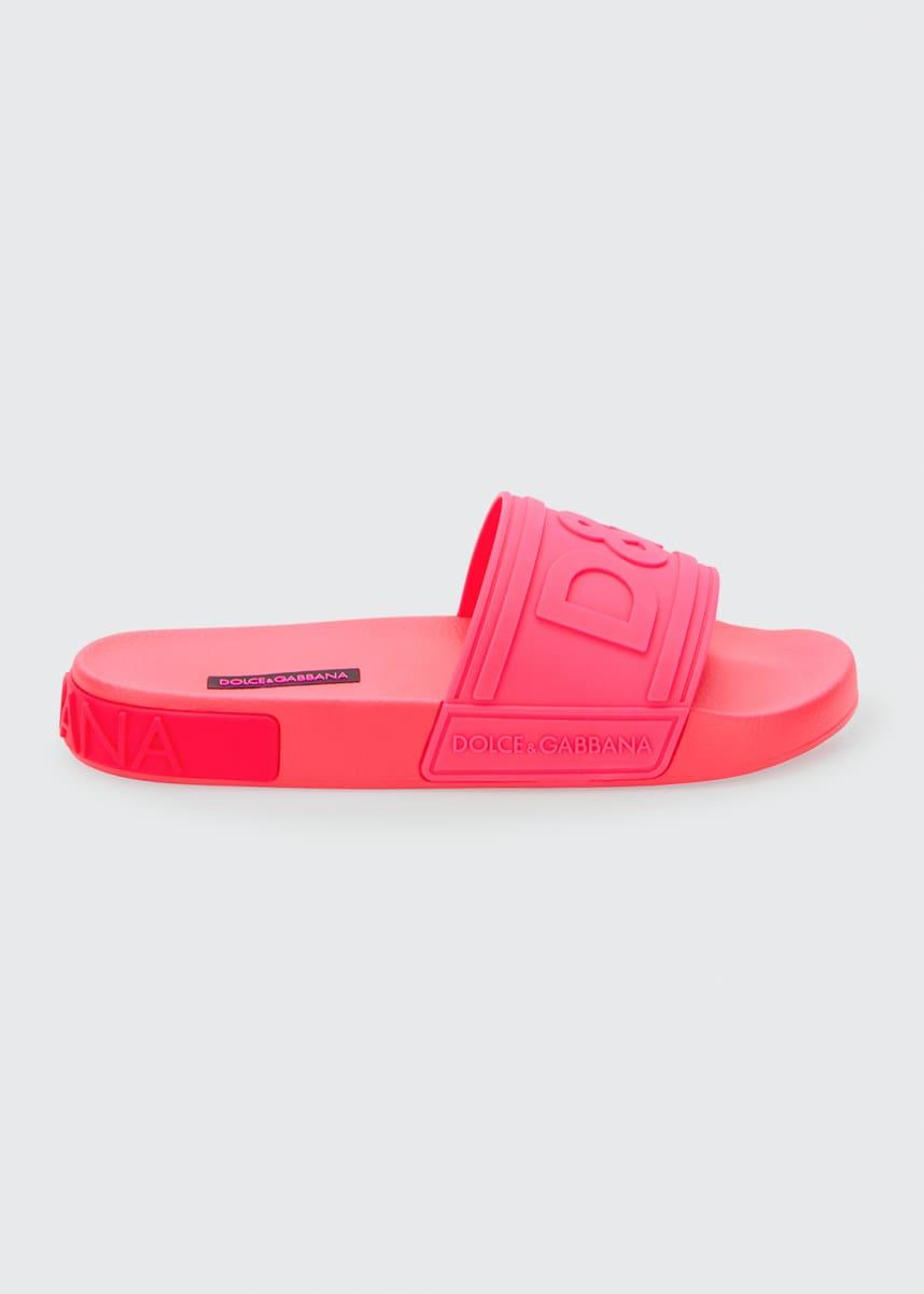 Dolce & Gabbana DG Logo Rubber Slide Sandals