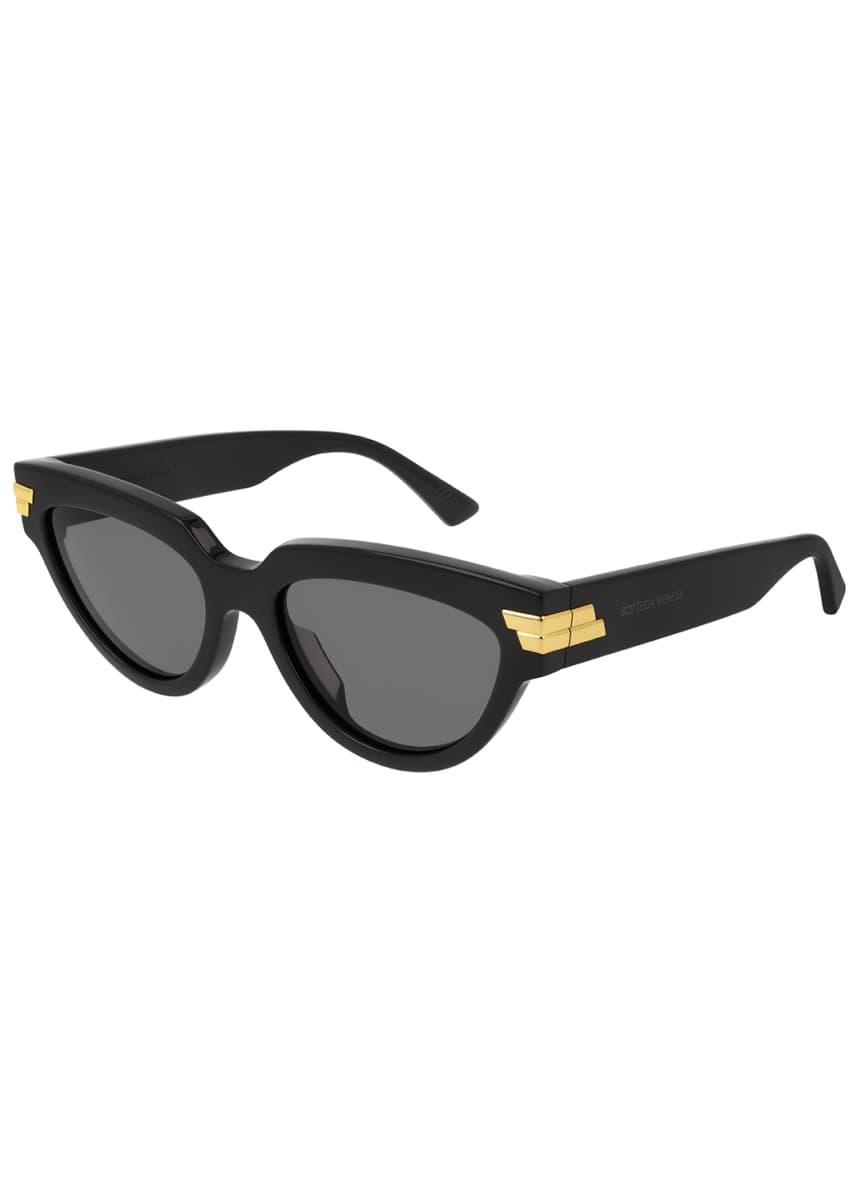 Bottega Veneta Round Acetate Sunglasses