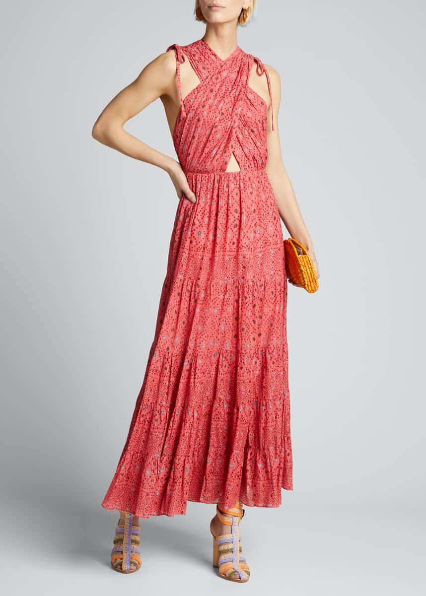 Ulla Johnson Karima Diamond-Print A-Line Dress