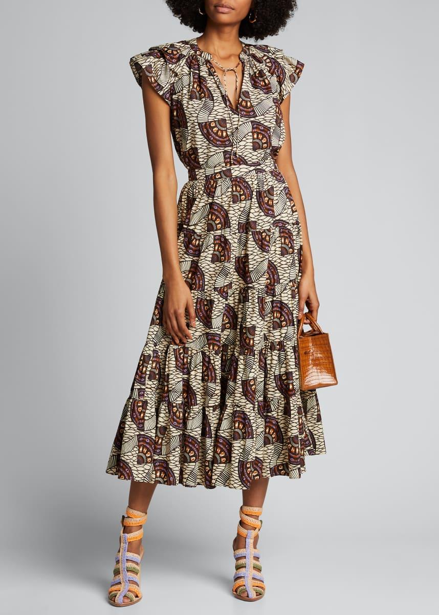 Ulla Johnson Sylvie Printed Midi Skirt