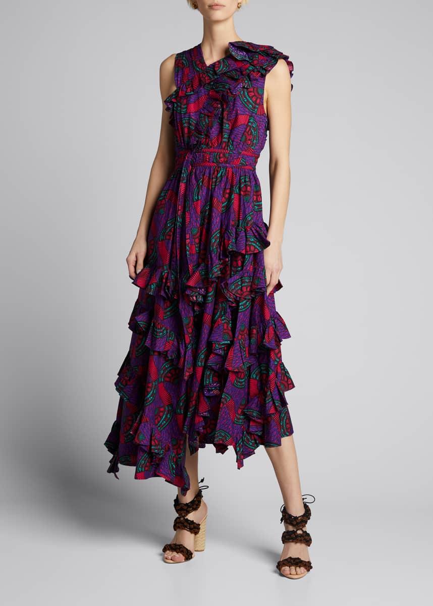 Ulla Johnson Imogen Tiered Floral-Print Dress