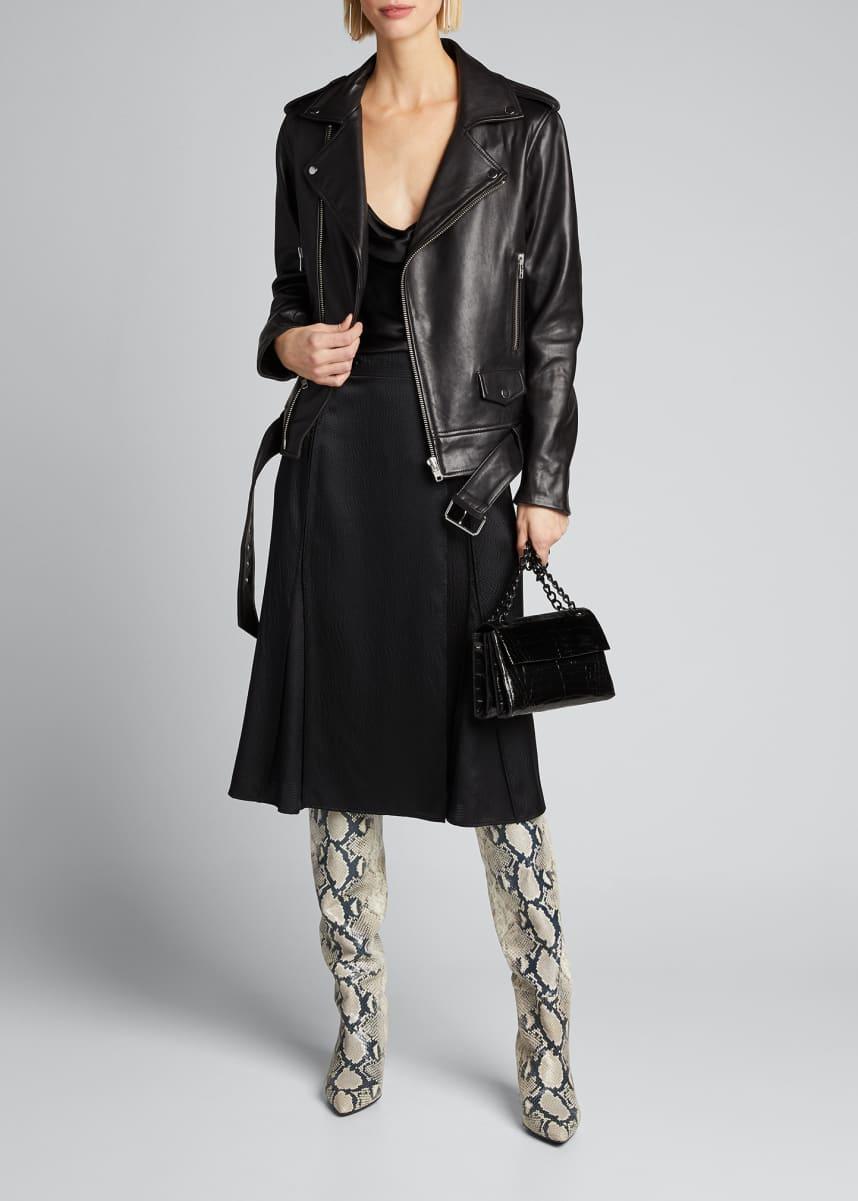STAND Nina Lamb Leather Biker Jacket