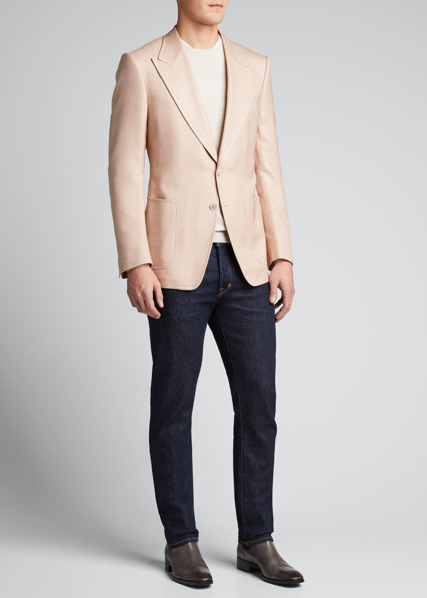 TOM FORD Men's Shelton Silk Canvas Blazer