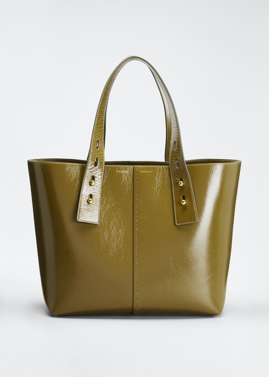 FRAME Leather Top Handle Tote Bag