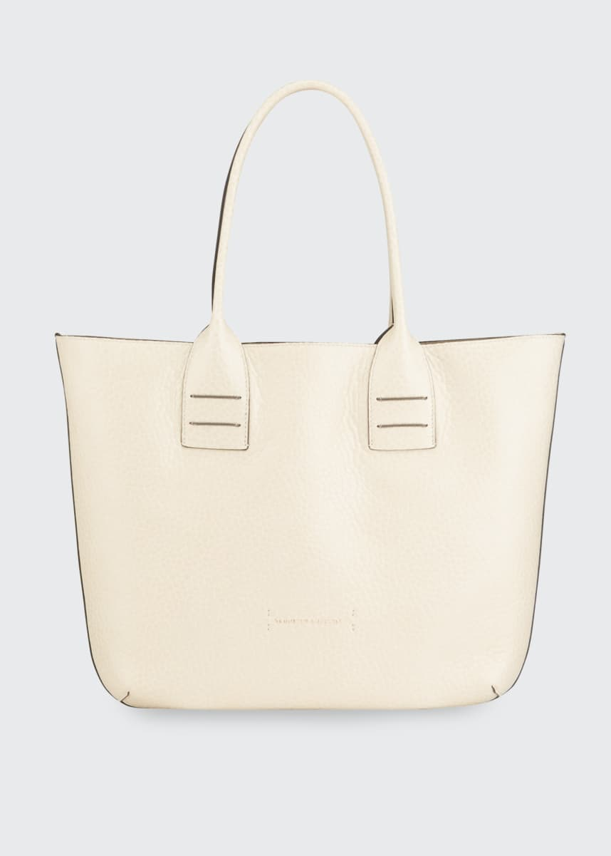 Brunello Cucinelli Reversible Mixed Leather Tote Bag
