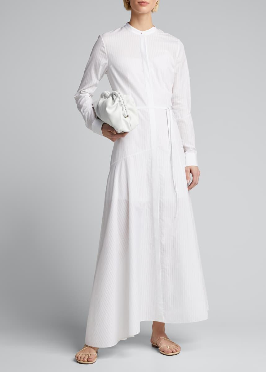 Theory Asymmetric Striped Cotton Dress