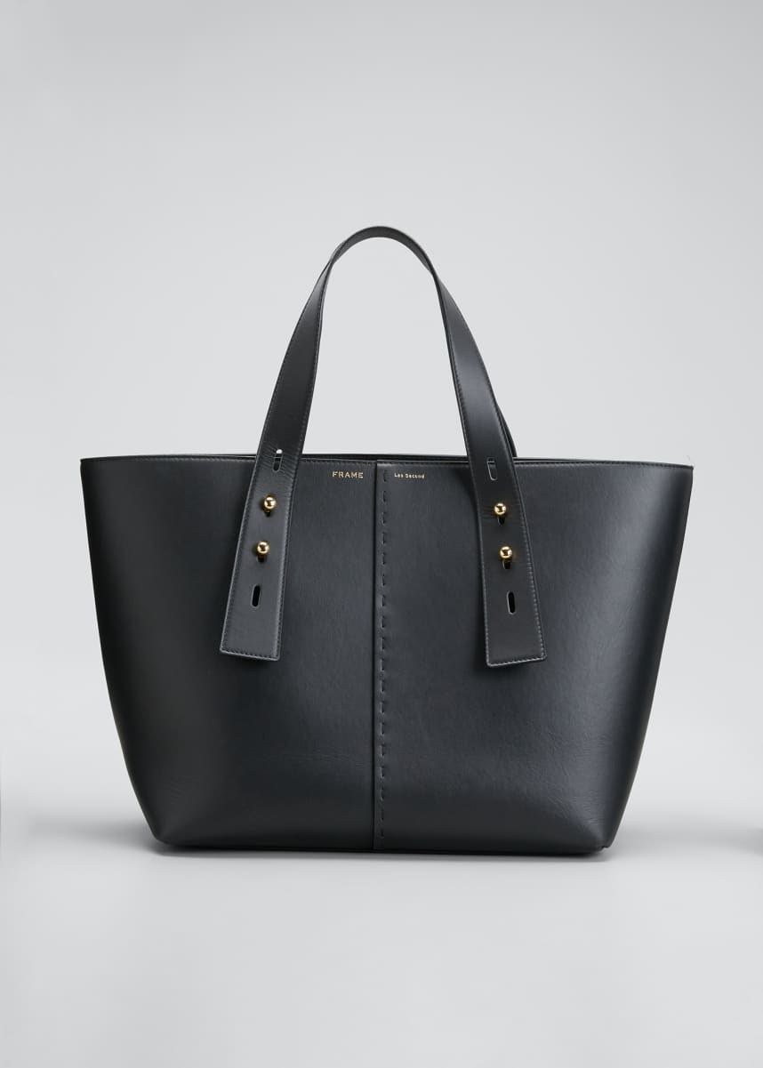 FRAME Medium Leather Top Handle Tote Bag