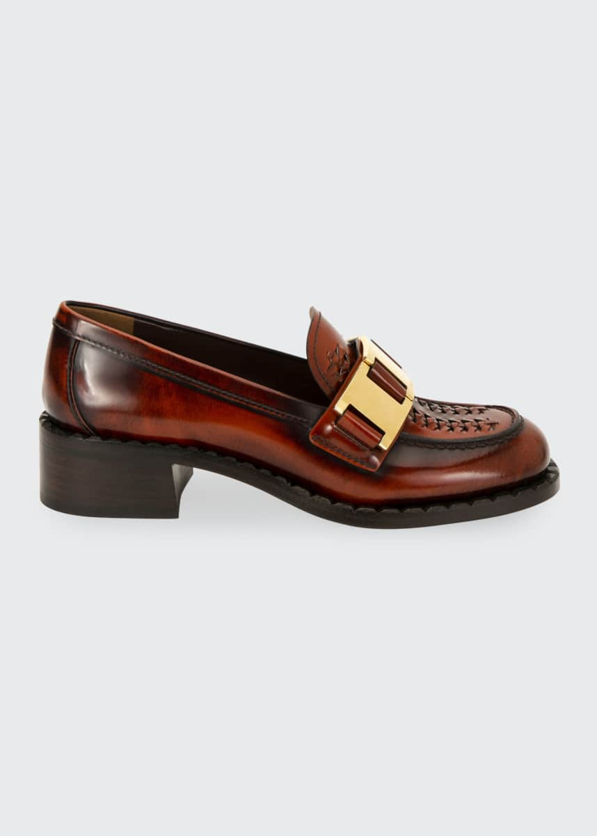 Prada 40mm Leather Loafers