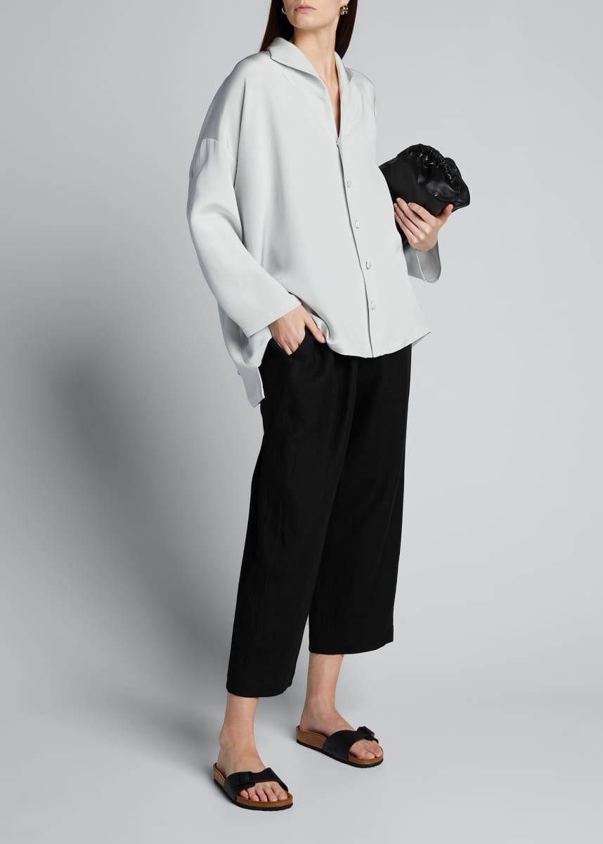 Eskandar Linen Japanese Trousers