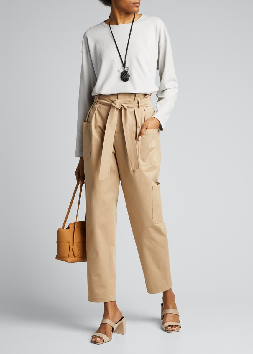 Eskandar Pima Cotton Long-Sleeve Top