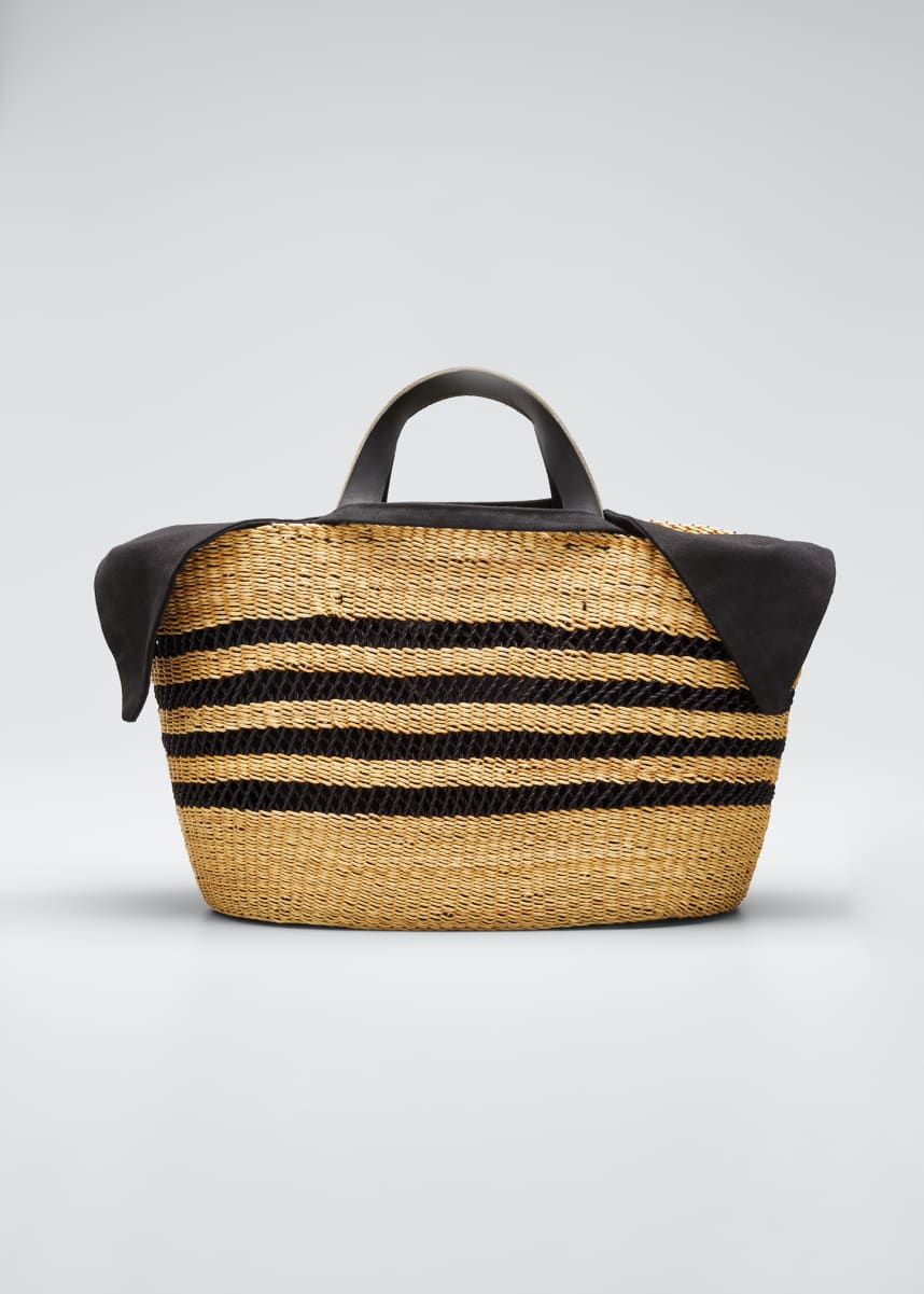 MUUN Woven Basket Tote Bag