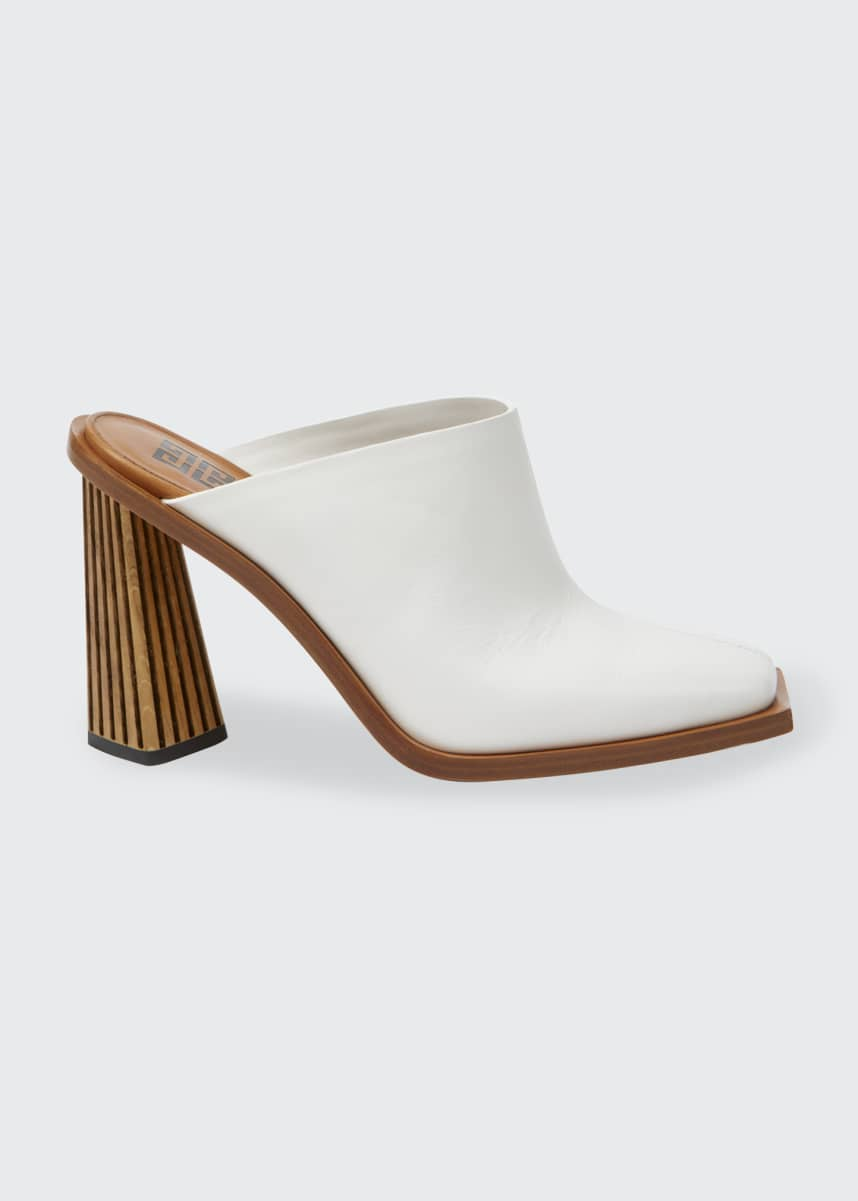 Givenchy Striped-Heel Leather Mules