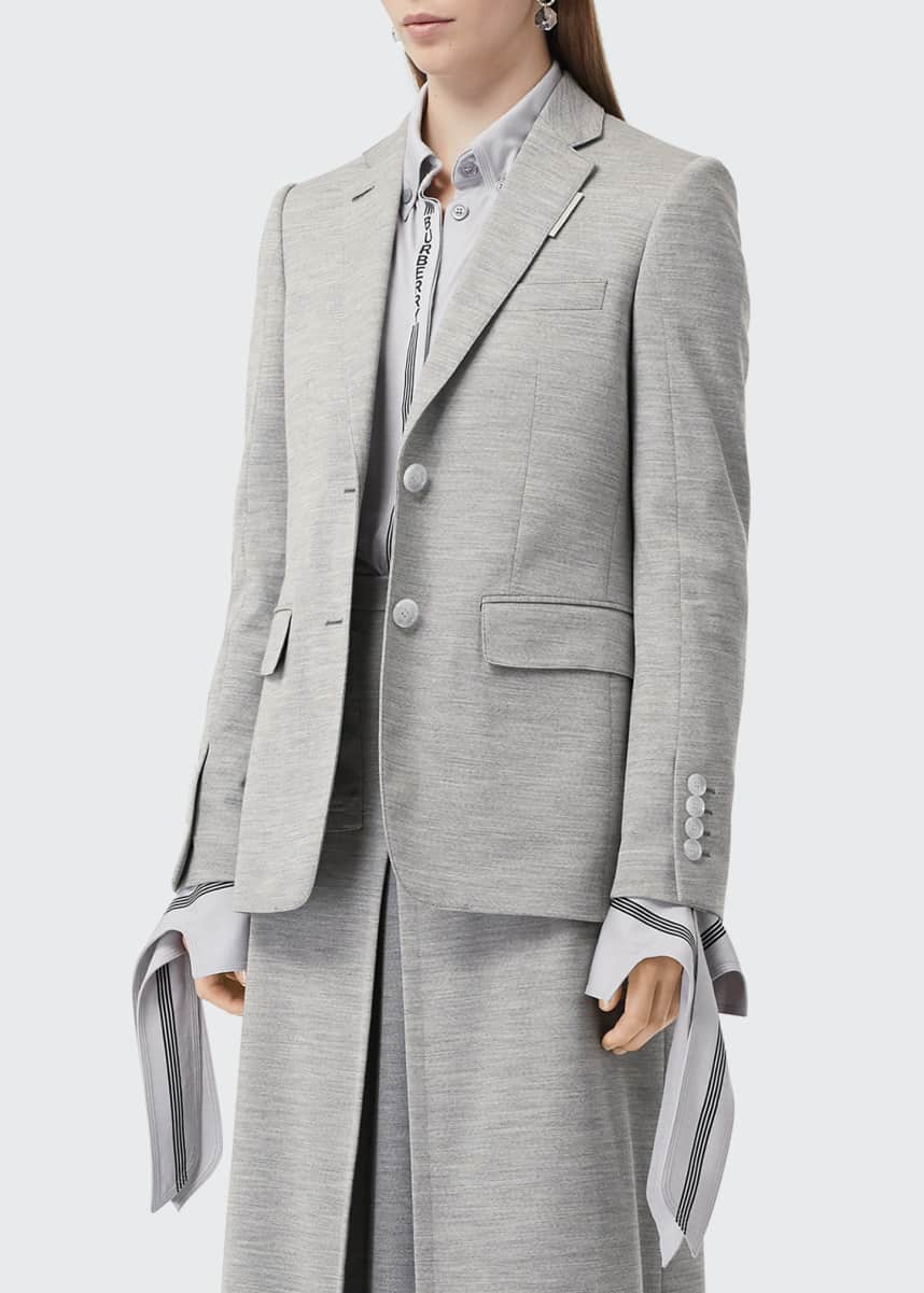 Burberry Tailored Jersey Blazer Jacket